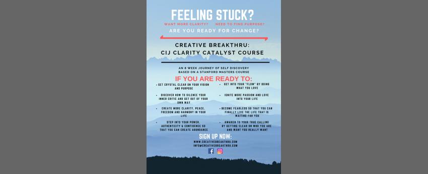 Creative Breakthru course