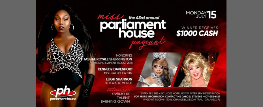 43rd Annual Miss Parliament House Pageant