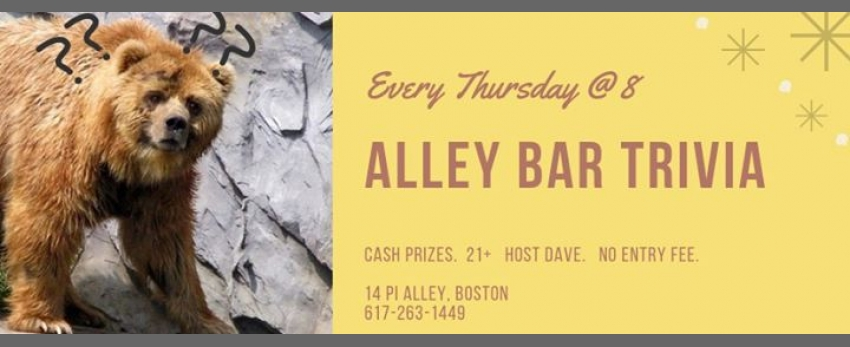 New Alley Bar Trivia