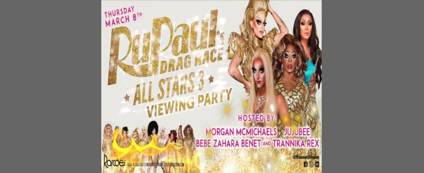 Roscoe's RPDR AS3 Viewing: Morgan McMichaels, JuJuBee & BeBe Zahara Be