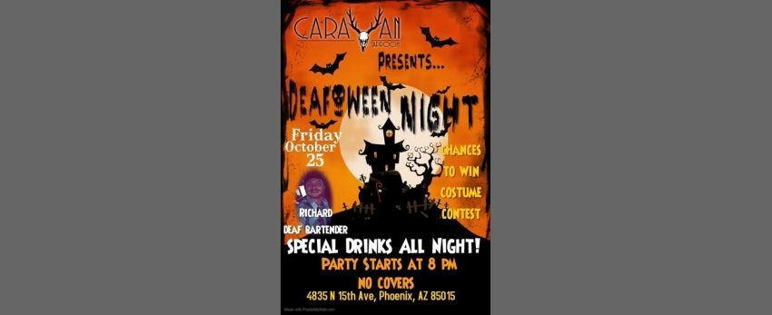 Drink N Sign DeafOween Night