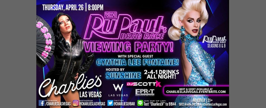 RuPaul's Drag Race Viewing Party with Cynthia Lee Fontaine