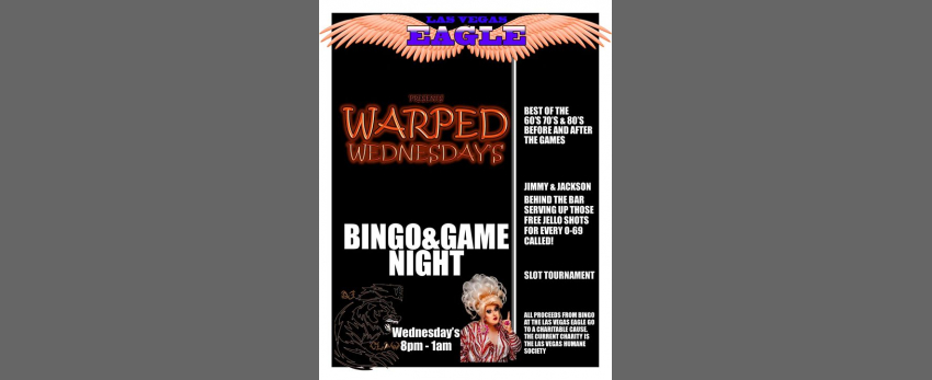 Warped Wednesday's Bingo & Game Night