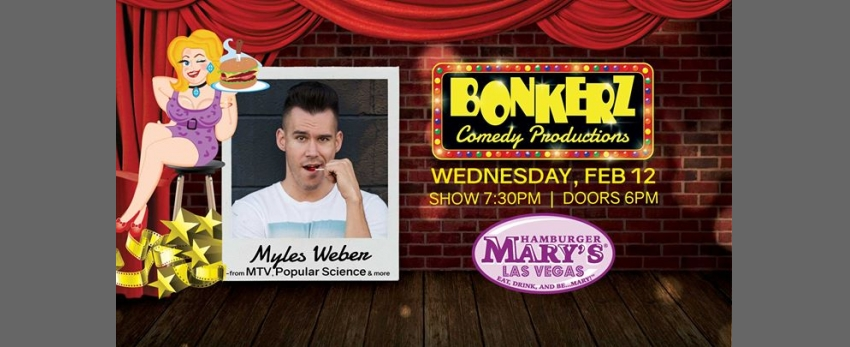 Myles Weber at Bonkerz Comedy in Hamburger Marys