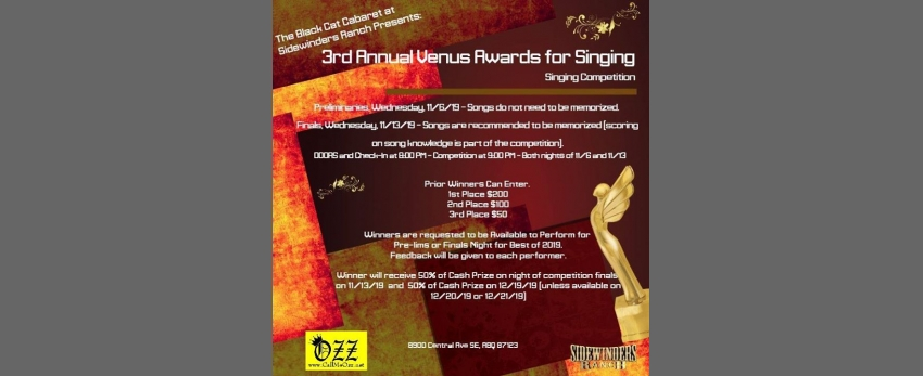3rd Annual Venus Awards - Singing Competition