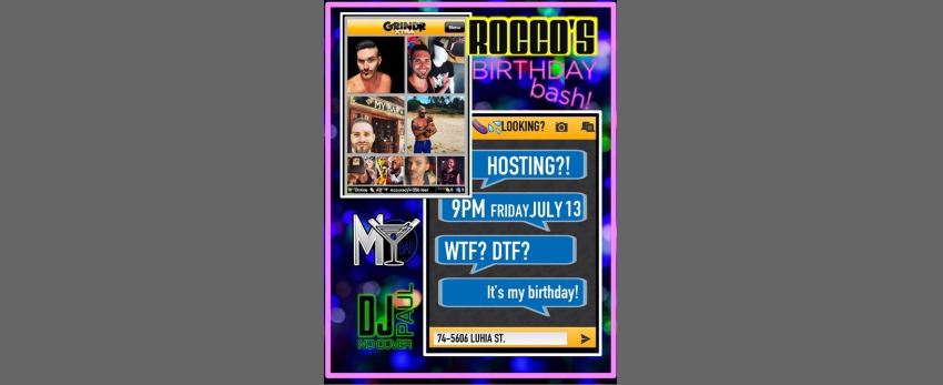 ROCCO's Birthday Bash!