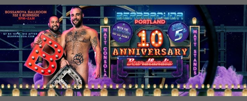 Bearracuda Portland 10 year anniversary: Beardlandia 2019!