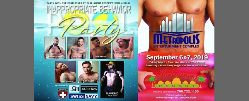 September Inappropriate Behavior Pool Party At Parliament Resort