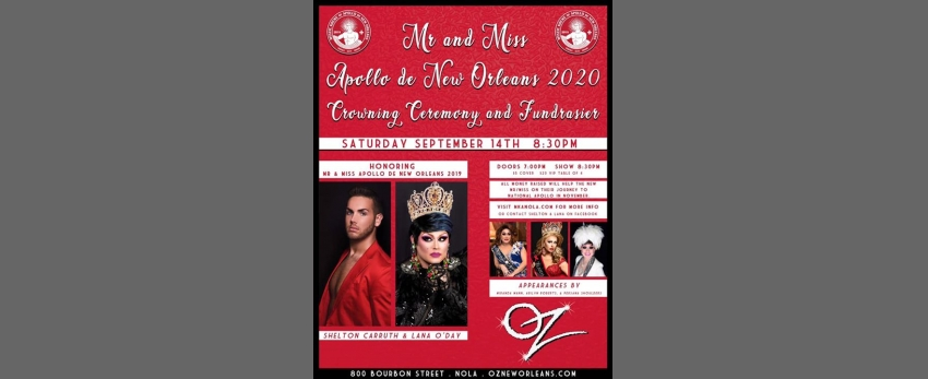 2020 Mr. & Miss Apollo de New Orleans