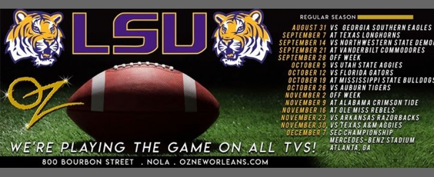 Oz's LSU Tigers Viewing Party