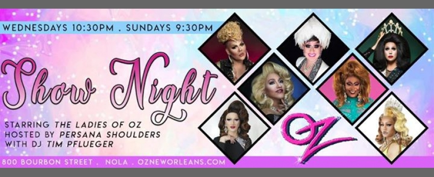 Sunday Funday SHOW NIGHT Starring the Ladies of Oz