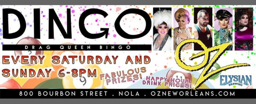 Drag BINGO at Oz