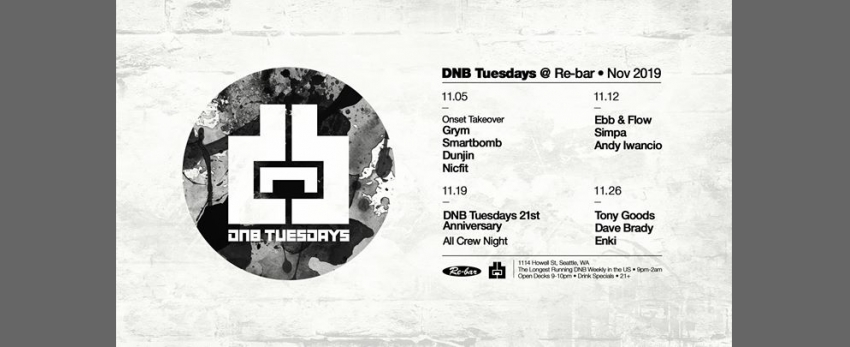 11/12 - DnB Tuesdays - Ebb & Flow, Simpa & Andy Iwancio