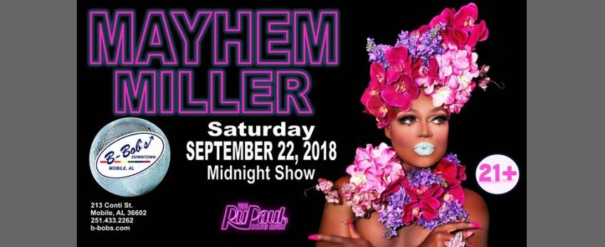 Mayhem Miller RPDR Season 10 at B-Bob's