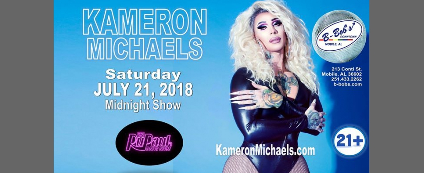 Kameron Michaels RPDR Season 10 at B-Bob's!