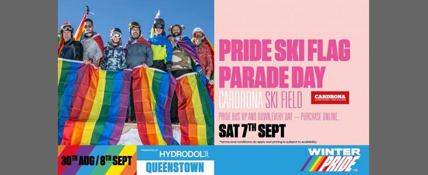Winter Pride '19 Pride Ski Flag Parade Day