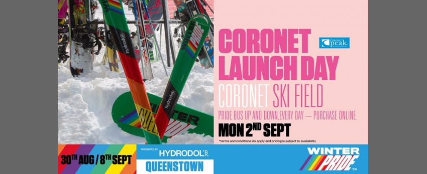 Winter Pride '19 Coronet Peak Launch Day