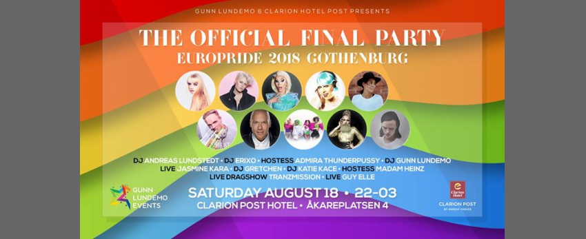 Official EuroPride 2018 final party