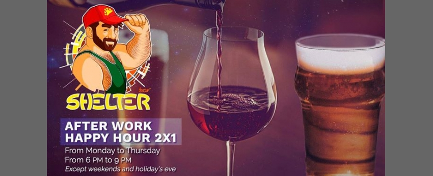 After Work Happy Hour 2 x 1 [Shelter Bar Lisboa]