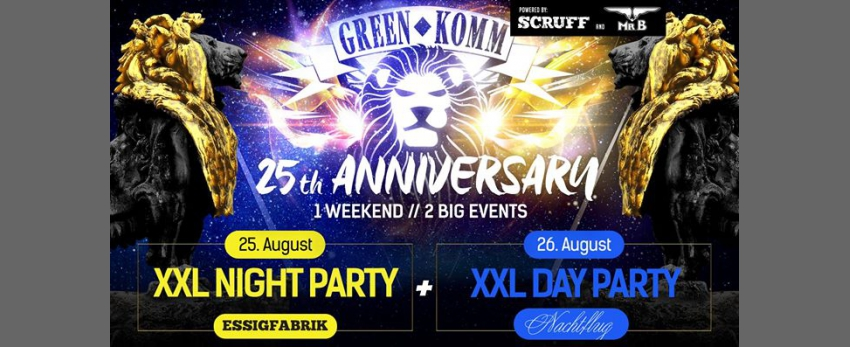GREEN KOMM 25th Anniversary Double NIGHT & DAY powered by scruff