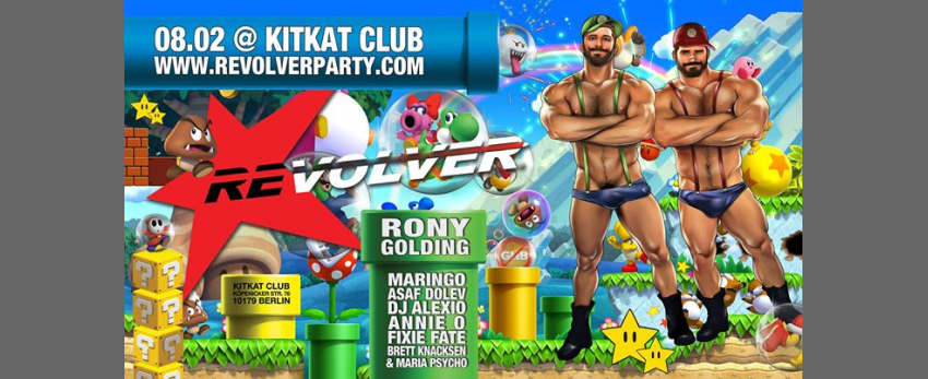 REVOLVER PARTY - GAME BOY w / RONY Golding