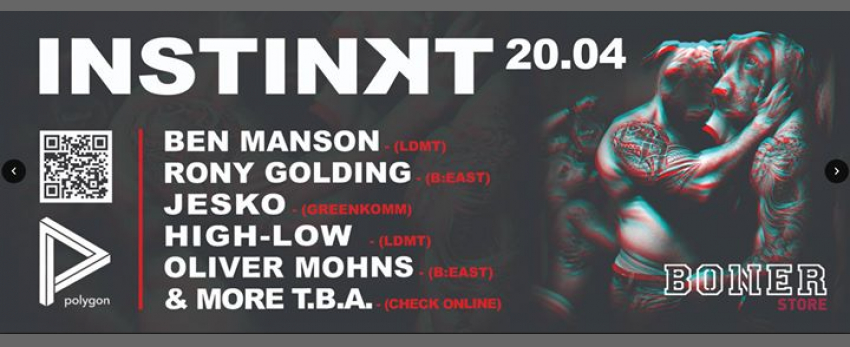 Instinʞt by Revolver- Easter Saturday w/ Ben Manson/Rony/Jesko