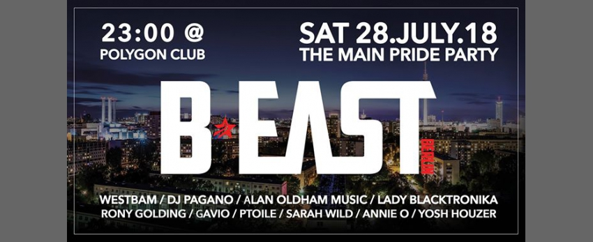 B:east PARTY PRIDE / CSD XXL /w . Pagano&Westbam