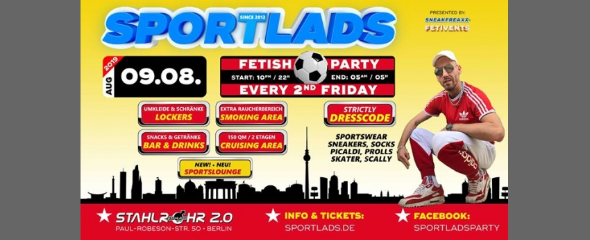 Sportlads 08/2019 ★ Every 2nd Friday ★ Since 2012 in Berlin ★