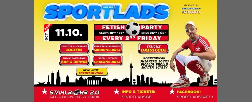 Sportlads 10/2019 ★ Every 2nd Friday ★ Since 2012 in Berlin ★